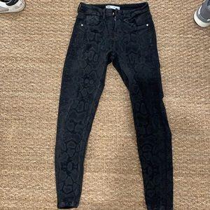 Zara snake skin black jeans